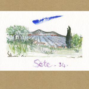 Aquarelle Sète 34