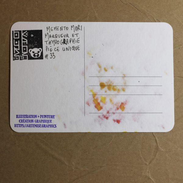Carte Memento Mori 33