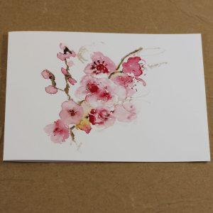 Fleurs de cerisier carte double