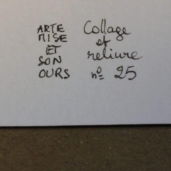 Carnet collage ARTEMISE numéro 25