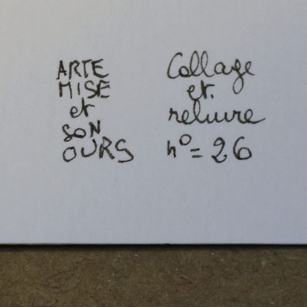 Carnet collage ARTEMISE numéro 26